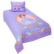 """Disney Sofia the First """"Ready to be a Princess"""" Twin Comforter Set"""