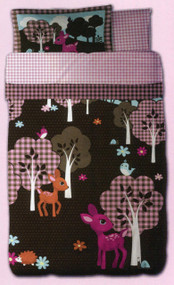 Just For Kids Girls Woodland Story 7pcs Full Bed Set - Bed in a Bag