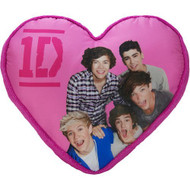Global Entertainment One Direction Leopard Heart Decorative Pillow