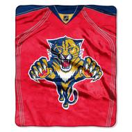 "NHL Florida Panthers Jersey Plush Raschel Throw, 50"" x 60"""