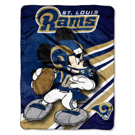 NFL St. Louis Rams Mickey Mouse Ultra Plush Micro Super Soft Raschel Throw Blanket
