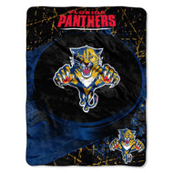 NHL Florida Panthers Ice Dash Micro Raschel Throw Blanket, 46x60-Inch
