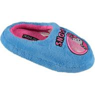 Peanuts Little Girls' Snoopy Fleece Slipper (11/12 M US Little Kid, Turquoise)