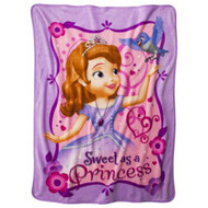 Disney Sofia the First Micro Raschel Throw 46x60