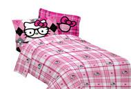 """Hello Kitty """"I Heart Nerd"""" Microfiber Sheet Set, Full"""