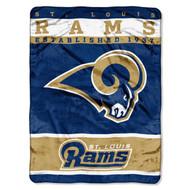 NFL St. Louis Rams Plush Raschel Blanket, 60 x 80-Inch, Blue