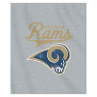 NFL St. Louis Rams Script Sweatshirt Throw, 50-Inch by 60-Inch, Gray