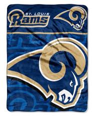 NFL St. Louis Rams Micro Raschel Throw Blanket, 46 x 60-Inch