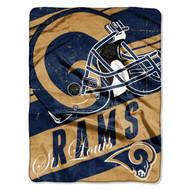 "NFL St. Louis Rams ""Deep Slant"" Micro-Raschel Throw, Blue, 46 x 60-Inch"
