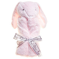 Quiltex Pink Rolled Security Blanket - Bunny