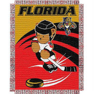 NHL Florida Panthers Woven Jacquard Baby Throw Blanket