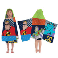 "Disney Pixar Films Patchwork Hooded Towel 22"" x 51"""