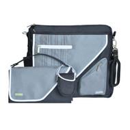 JJ Cole Metra Diaper Bag, Black Stitch