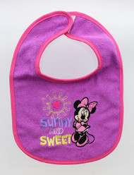 """Disney Minnie Mouse 4-Pack Feeder Bibs """"Sunny and Sweet"""""""