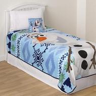 Disney Frozen Olaf Micro Raschel Blanket, 62 by 90-Inch