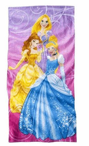 "Disney 3 Princess Beach Towel - 28"" x 58"""