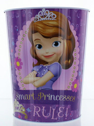 Disney Sofia the First Wastebasket - Garbage Can - Smart Princesses Rule
