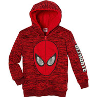 Boys Marvel Superhero Lined Full Zip Hoodie Jacket Spiderman