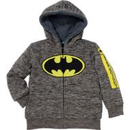 Boys Marvel Superhero Lined Full Zip Hoodie Jacket -Batman