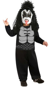 Kiss The Demon Gene Simmons Rock Star Costume Toddler 2-4