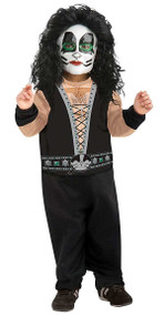 Kiss The Catman Peter Criss Rock Star Costume Toddler 2-4