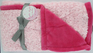 Night Night Baby Blanket (Light Pink/ Hot Pink)