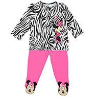 Disney Minnie Mouse Zebra Infant Girls 2 Piece Set