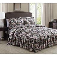 Annette Antique Floral 3-piece Bedspread Set (Queen)