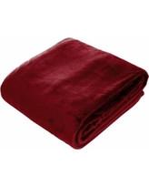 Amelia Queen Super Soft Flannel Blanket (Maroon)