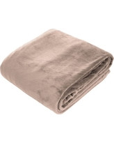 Amelia Queen Super Soft Flannel Blanket (Taupe)