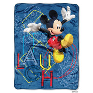"""Mickey's Clubhouse """"Laugh"""" Plush Throw"""