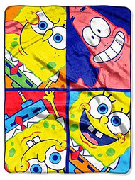 Spongebob Plush Throw Blanket