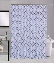 Avenue Home Fashion Palace Shower Curtain (White)