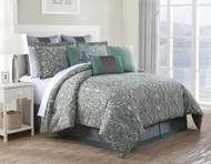 9 Piece King Clara 100% Cotton Comforter Set