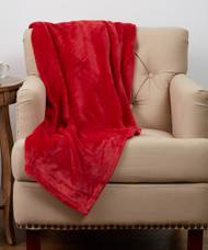 Luxe Plush Red Throw