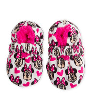 Minnie Mouse Fuzzy Faces Slipper Socks (12-24 Months)