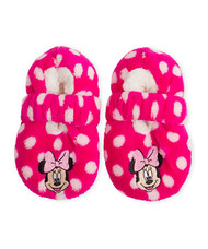 Minnie Mouse Fuzzy Dots Slipper Socks (12-24 Months)