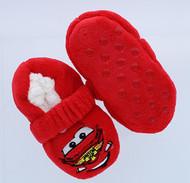 Disney/Pixar Cars Lightning McQueen Fuzzy Slipper Socks (12-24 Months)