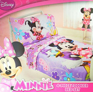 Disney Minnie 4 Piece Toddler Bed Set
