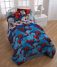 """Spiderman """"City Graphic"""" Twin Size Comforter"""