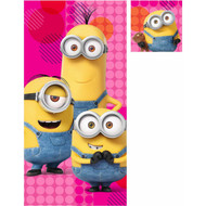 Despicable Me Minion Girl Bath Towel and Washcloth Set