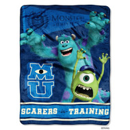 "Disney's Monsters University ""Scarers in Training"" Micro Raschel Throw - 46""x60"""