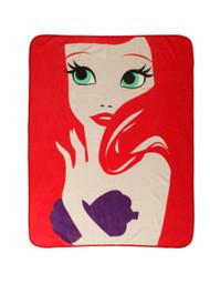 The Little Mermaid 'Minimalist Ariel' Throw Blanket