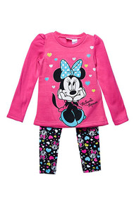 Minnie Mouse 'Pink' Sweater and Leggings Set