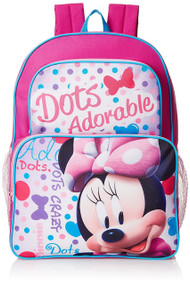 """Minnie Mouse """"Dots Adorable"""" 16-inch Backpack"""