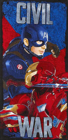 Captain America & Iron Man Civil War Beach Towel