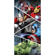 Marvel Heroes Cross Plush Beach/Bath Towel