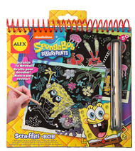SpongeBob Scra-ffiti Scratch Art