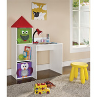 Altra Furniture Kids Workstation with 2 Bins , White