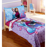 Disney Frozen Elsa & Anna 4-Piece Toddler Bed Set